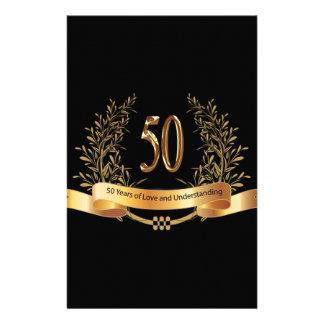 50th presentes felizes do aniversário de casamento papéis personalizados