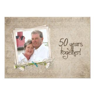 50th Renovação do voto do aniversário de casamento Convite 12.7 X 17.78cm