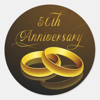 50th Roteiro do ouro do aniversário | Adesivo