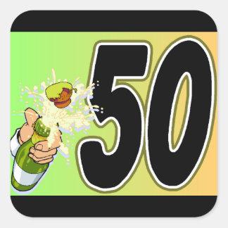 50th selos ou etiquetas do envelope da festa de