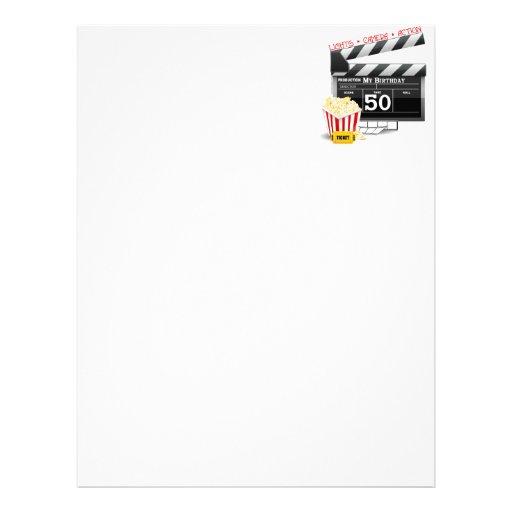 50th Tema do filme do aniversário Papel De Carta