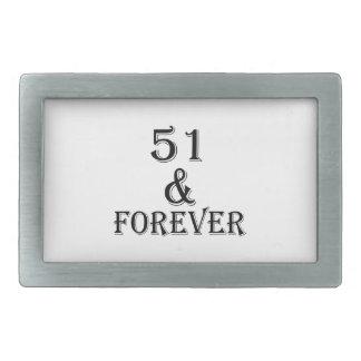 51 e para sempre design do aniversário