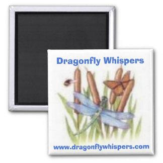 520116453, sussurros da libélula, www.dragonflywhi ímã quadrado