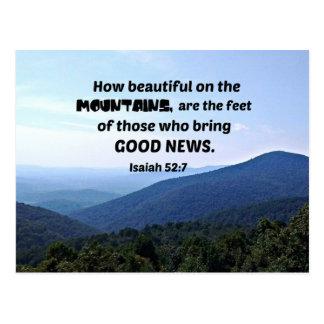 52:7 de Isaiah como bonito nas montanhas seja Cartão Postal
