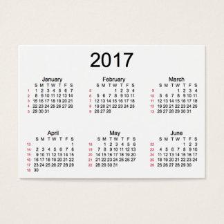 52 calendário do branco da semana 2017 por cartões