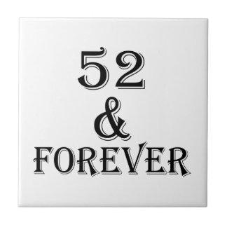 52 e para sempre design do aniversário