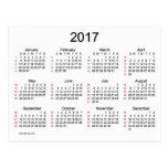 52 mini calendário das semanas 2017 por Janz