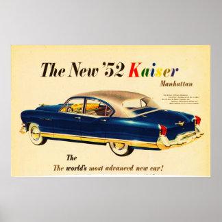 '52 o poster novo do carro 3 de Kaiser Pôster