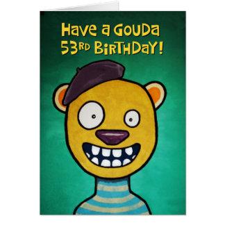 53rd cartão de aniversário engraçado para ela