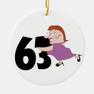 53rd presentes de aniversário - aniversário ornamento de cerâmica redondo
