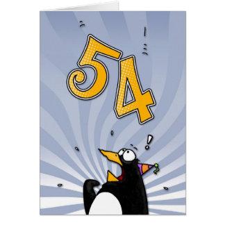 54th aniversário - cartão da surpresa do pinguim