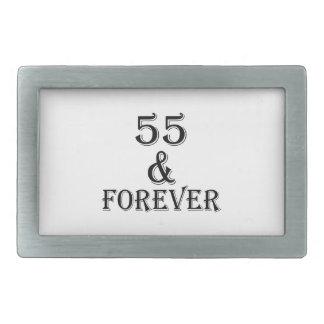 55 e para sempre design do aniversário