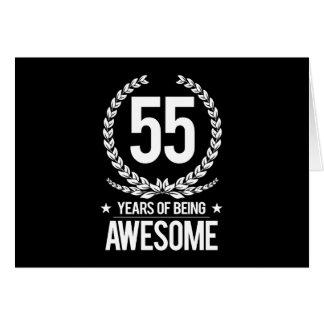 55th Aniversário (55 anos de ser impressionantes) Cartão Comemorativo