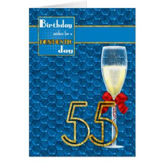 55th aniversário - cartão de aniversário