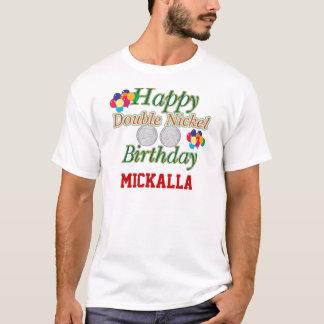 55th camiseta feliz feita sob encomenda do