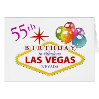 55th Cartão de aniversário de Las Vegas
