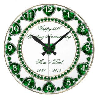 55th Pulso de disparo do aniversário de casamento Relógios De Paredes