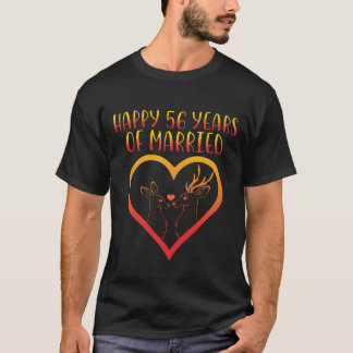 56th camisa feliz do aniversário para o casal