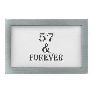 57 e para sempre design do aniversário