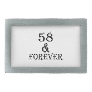 58 e para sempre design do aniversário