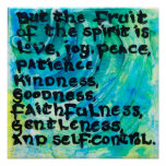 5:22 de Galatians - a fruta do espírito Poster