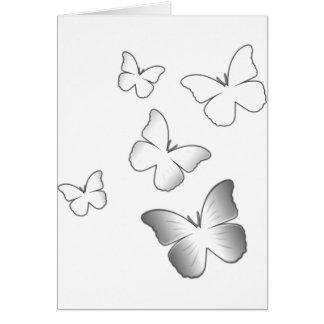 5 borboletas brancas cartões