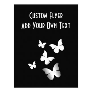 5 borboletas brancas panfletos