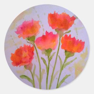 5 etiquetas vívidas das flores da aguarela por
