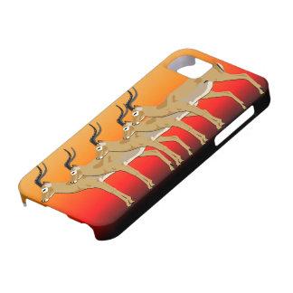 5 Impalas em capas de iphone do por do sol