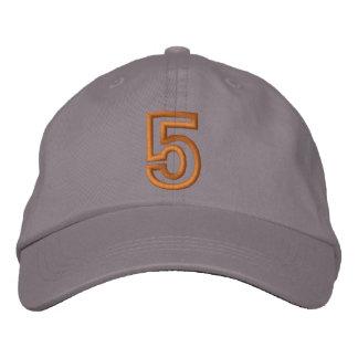 """""""5"""" número atlético pequeno boné bordado"""