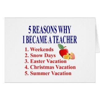 5 razões eu transformei-me um cartão engraçado do