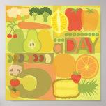 5 uma fruta do dia e um poster do veg