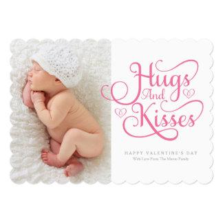 5 x 7 abraçam & beijam o cartão com fotos do dia convite 12.7 x 17.78cm