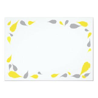 """5"""" x 7"""" amarelo & cinzas deixam o cartão vazio convites personalizado"""