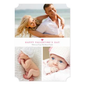 5 x 7 cartão com fotos do dia dos namorados da convite 12.7 x 17.78cm
