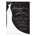 5 x 7 o chá de panela do vestido elegante   convid convites personalizados