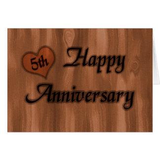 5o aniversário feliz (aniversário de casamento) cartão comemorativo