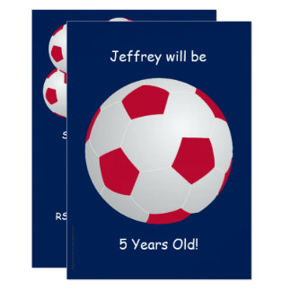5o Bola de futebol do convite de aniversário
