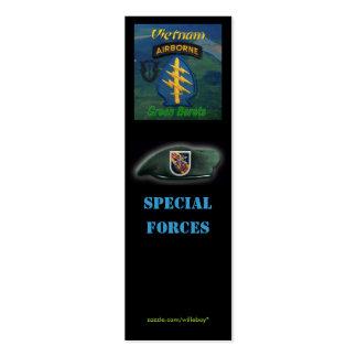 5o bookmarker instantâneo das forças especiais de  cartao de visita