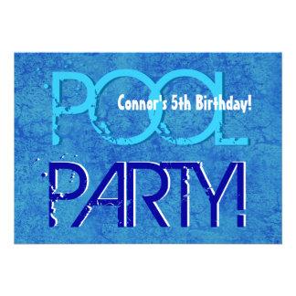 5o Branco azul V05 da festa na piscina do miúdo do