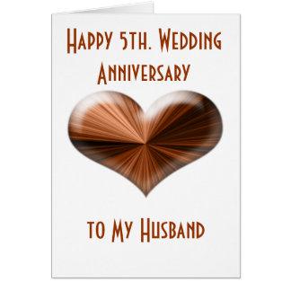 5o. Cartão do aniversário de casamento ao marido e