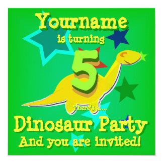 5o Convites de festas do dinossauro do aniversário