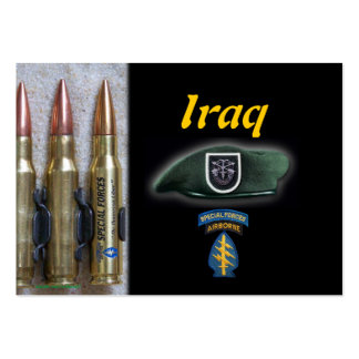 5o cromo de colecção de Iraque das forças especiai Modelos Cartão De Visita