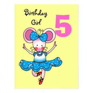 5o presente de aniversário para uma menina, cartão postal