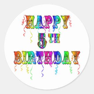 5os presentes de aniversário felizes - pia adesivo