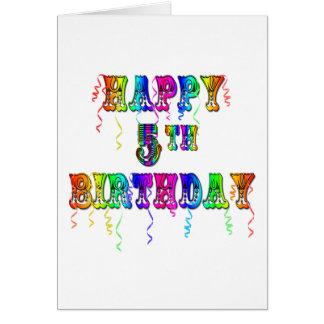 5os presentes de aniversário felizes - pia batisma cartões