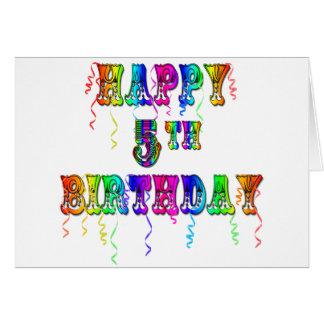 5os presentes de aniversário felizes - pia batisma cartão comemorativo