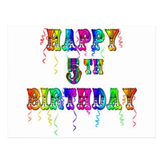 5os presentes de aniversário felizes - pia batisma cartões postais