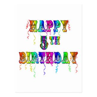 5os presentes de aniversário felizes - pia batisma cartoes postais