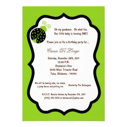 5x7 a festa de aniversário verde elétrica da senho convites personalizado